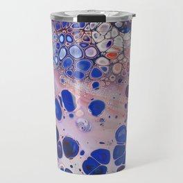 Applause  -  Colorful Fun Red Purple Blue Fluid Acrylic Paint Pour Design Art Travel Mug