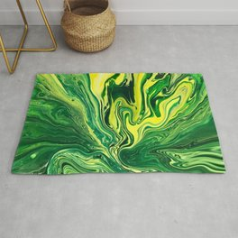 Elegant Crazy Agate 5 - Green and Yellow Rug