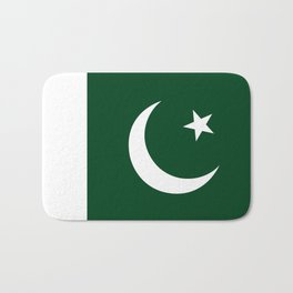 The National Flag of Pakistan - Authentic Version Bath Mat
