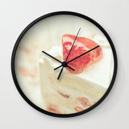 Hello Strawberries Wall Clock