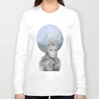 the mountains are calling Long Sleeve T-shirts featuring The mountains are calling... by lenita pepa