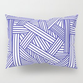 Sketchy Abstract (Navy Blue & White Pattern) Pillow Sham