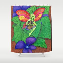 Fairy and Bee Shower Curtain