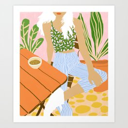 Kawa Tea #illustration #fashion Art Print