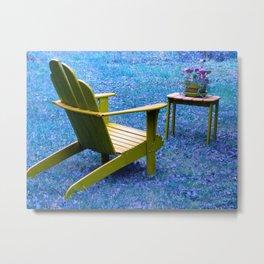 Accord Chair Metal Print