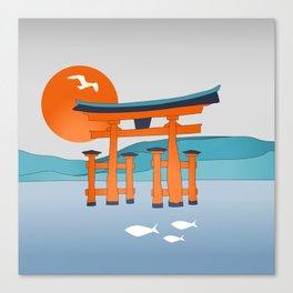 Japanese Shinto at Morning Canvas Print