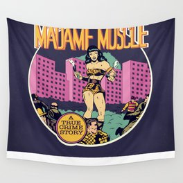 Herstory: Madame Muscle Wall Tapestry