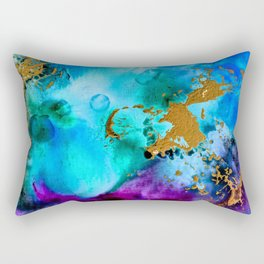 Gilded Cosmos II Rectangular Pillow