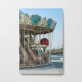 Carrousel du Touquet, Boulevard of the beach Metal Print