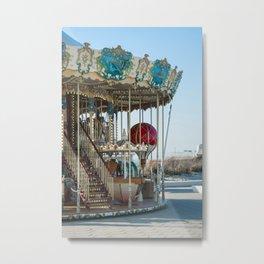 Carrousel du Touquet, Boulevard of the beach Metal Print