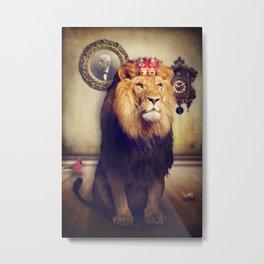 The royal lion Metal Print