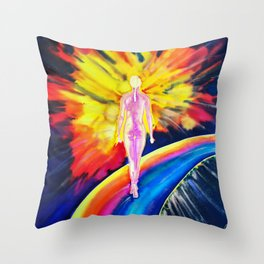 Dancing on the rainbow Throw Pillow