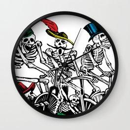 Calavera Cyclists Wall Clock