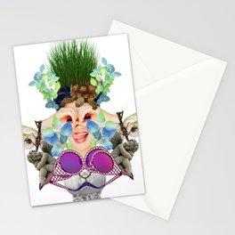Blue Grass by Lenka Laskoradova Stationery Cards