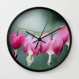 Be Still My Bleeding Heart Stained Glass Illustration Wall Clock