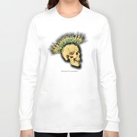 health Long Sleeve T-shirts featuring MENTAL HEALTH - 025 by Lazy Bones Studios