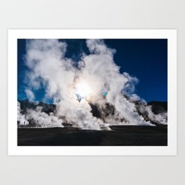Tatio Geysers in the Atacama Desert, Chile Art Print