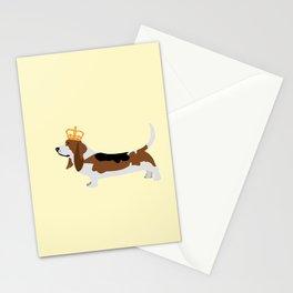 Royal Basset Hound Dog  Stationery Cards