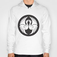 religious Hoodies featuring Black And White Birds-Religious Symbol by ArtOnWear