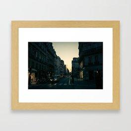 Paris, quartier de la Concorde at Dawn Framed Art Print