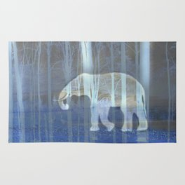Moonlight with elephant Rug