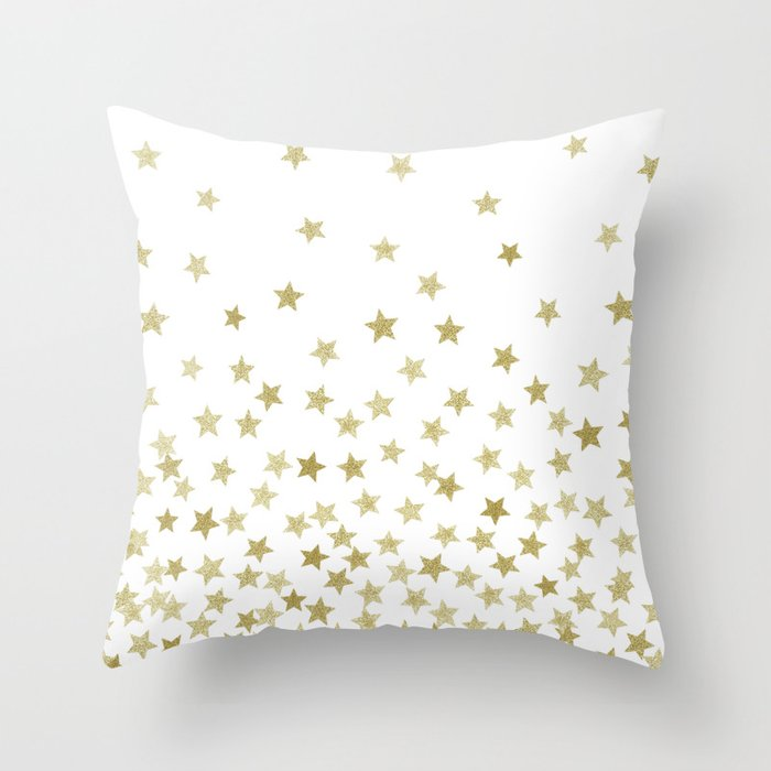 STARS GOLD Throw Pillow