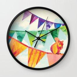 Shanti Sparrow: Hamish the Squirrel  Wall Clock