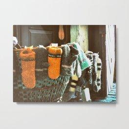 Woolen Mittens Metal Print