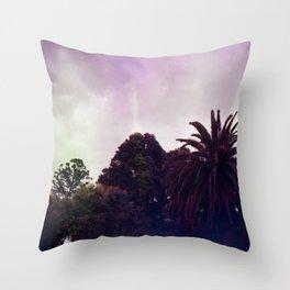 Purple Park Throw Pillow