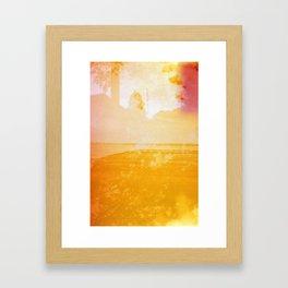 Burning Dock Framed Art Print