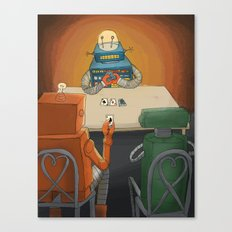 robot in trouble Canvas Print