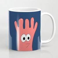 greg guillemin Mugs featuring Monster Greg by Chelsea Herrick