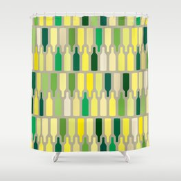 wine bottles pattern Shower Curtain