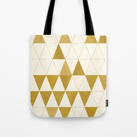 modern Tote Bags featuring My Favorite Shape by Krissy Diggs