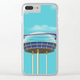 Sci-Fi building Clear iPhone Case