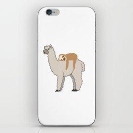 Cute & Funny Sleepy Sloth & Llama iPhone Skin