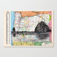 oregon Canvas Prints featuring Oregon by Ursula Rodgers