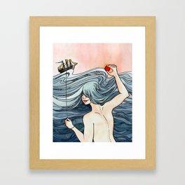 Red Sky in the Morning (Sailors Take Warning) Framed Art Print