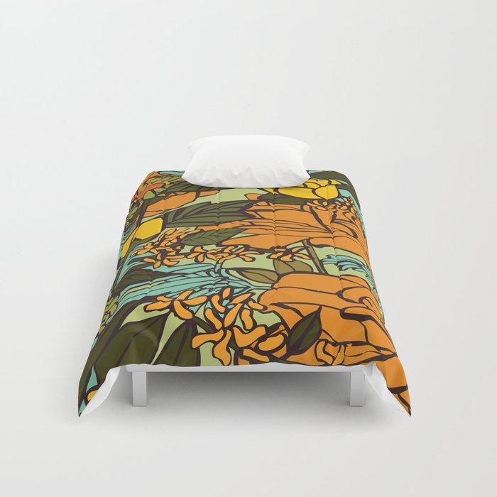 """Retro Garden Comforters by Zeljkica - Twin XL: 68"""" x 92"""""""