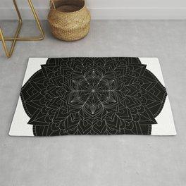 Tranquility | No. 1 | Black and white | Mandala Art Rug