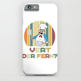 What To The Devil Chef Kitchen Knife Gift iPhone Case
