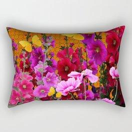BUTTERFLIES IN PURPLE-PINK  FLOWERS GARDEN Rectangular Pillow