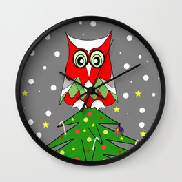 Tree Top Owl Wall Clock