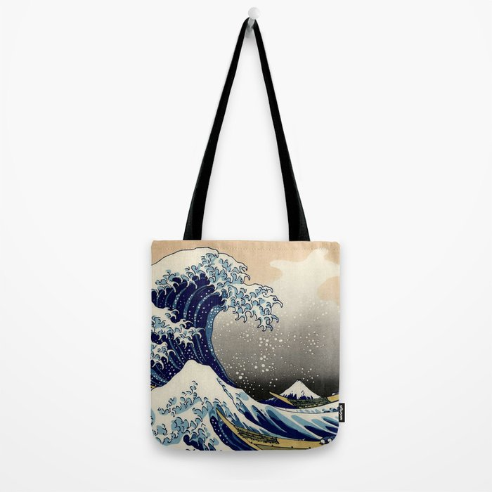 The Great Wave off Kanagawa Hokusai Tote Bag