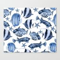 Fish underwater watercolor allover pattern by lebensart