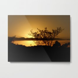 Along the Sundown Way Metal Print