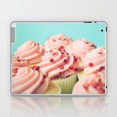 STRAWBERRY CUPCAKES PHOTOGRAPH Laptop & iPad Skin