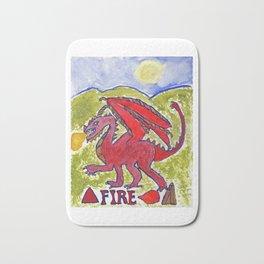 Fire Dragon Bath Mat