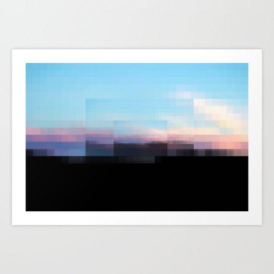 A Sun Sets in Sun Sets in the Sun Art Print