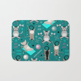 Fitness for cats Bath Mat